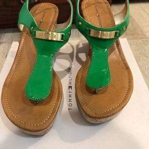 Tommy Hilfiger NWT cork wedge sandals